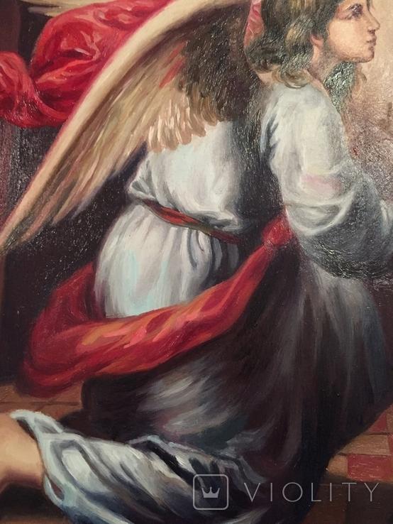 Икона Благовещение Пресвятой Богородицы Академическая живопись, фото №6
