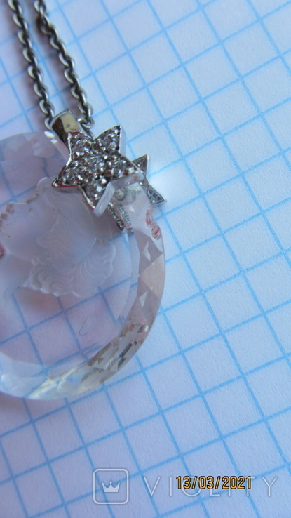 Кулон. Камея. Серебро, хрусталь., фото №7
