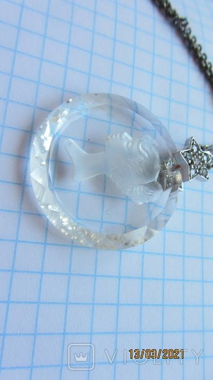 Кулон. Камея. Серебро, хрусталь., фото №8