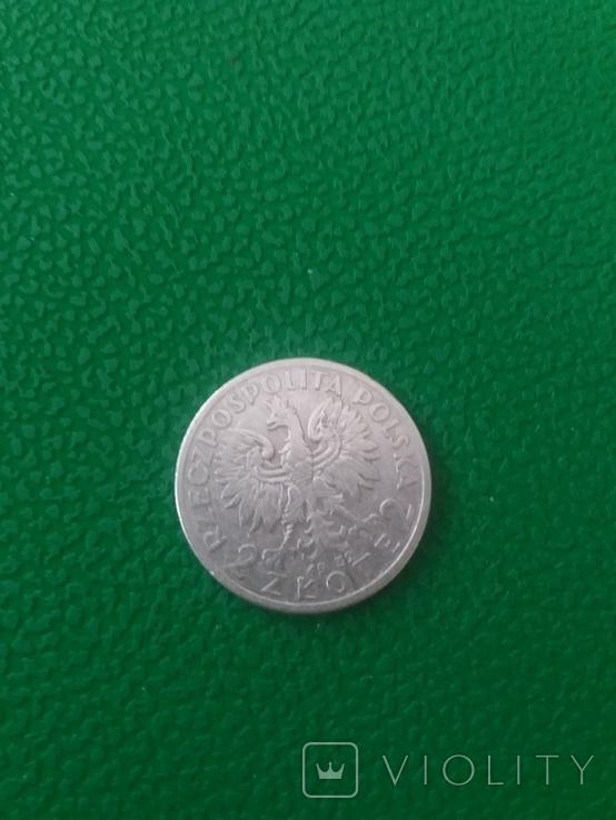 2 Злотих 1932 року.Срібло., фото №3