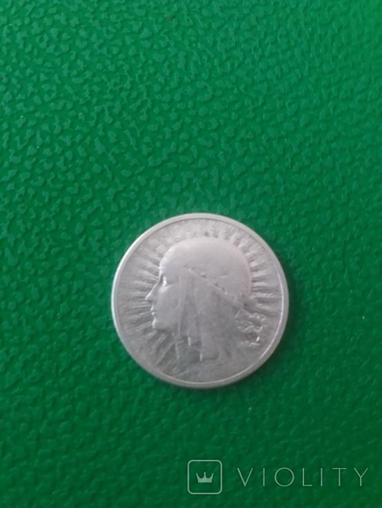 2 Злотих Ядвіга 1934 рік.Срібло., фото №2