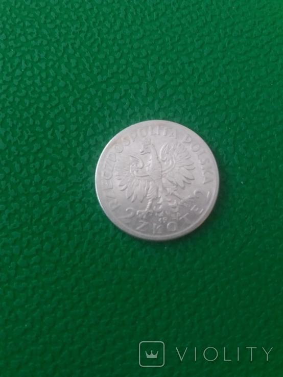 2 Злотих Ядвіга 1934 рік.Срібло., фото №3