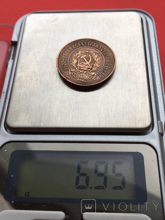 1 червонец 1976 года (пробный оттиск в бронзе) Копия, фото №3