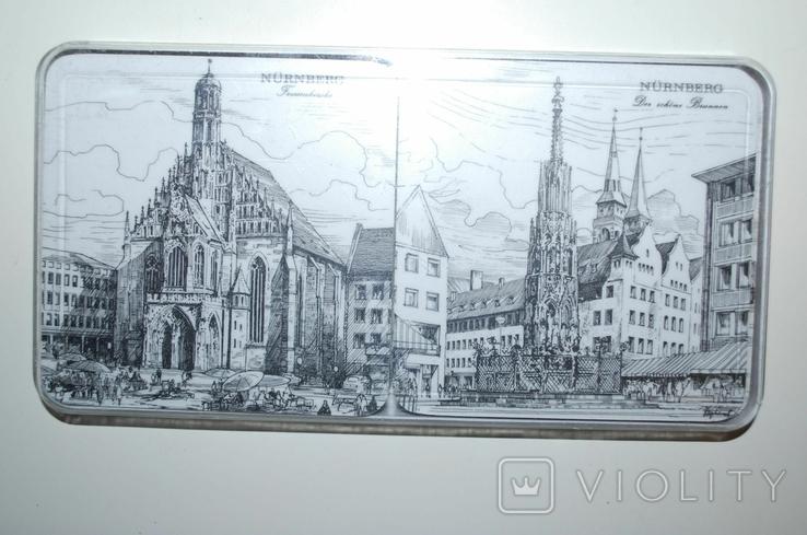 Подложки из меламина, Нюрнберг, Schuberth, W.Germany в футляре, 6 шт - 9,5х9,5 см., фото №3