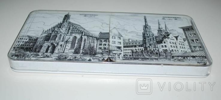 Подложки из меламина, Нюрнберг, Schuberth, W.Germany в футляре, 6 шт - 9,5х9,5 см., фото №4