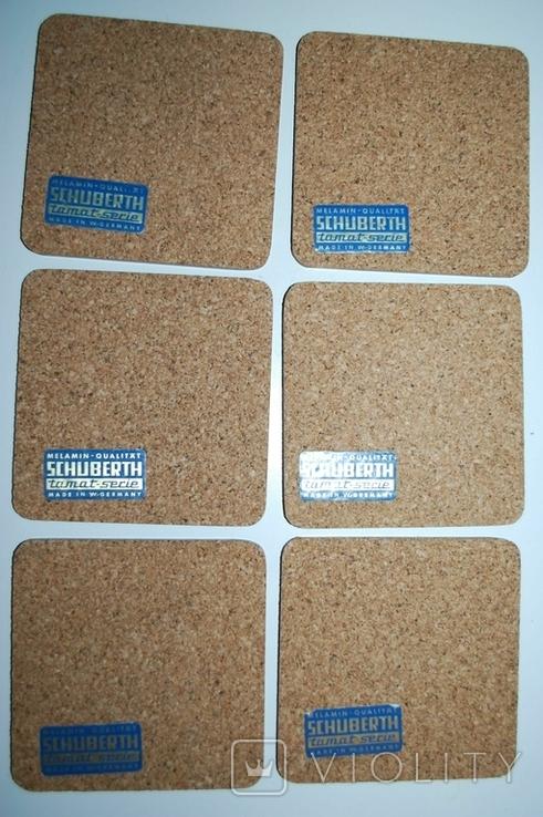 Подложки из меламина, Нюрнберг, Schuberth, W.Germany в футляре, 6 шт - 9,5х9,5 см., фото №10