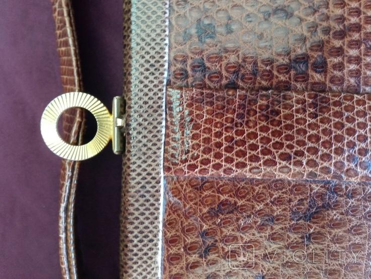 Сумочка клатч из варана, 40-50-е, фото №5