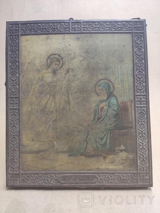 Благовещение Пр.Богородицы. 31х26,5см, фото №3