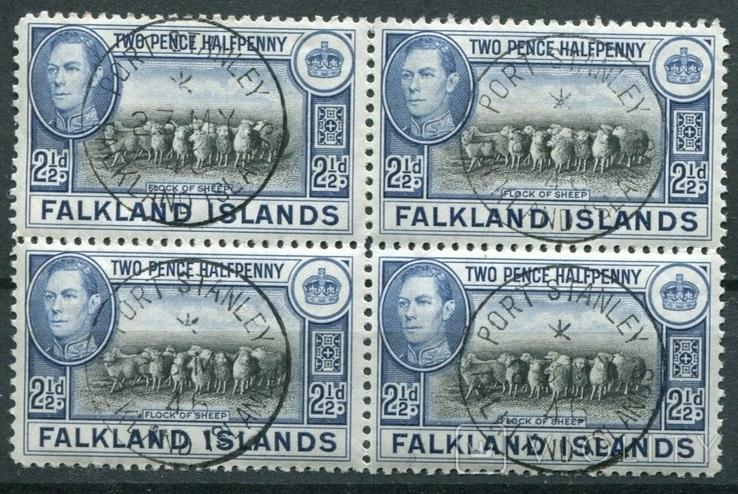 1938 Великобритания колонии Фолклендские острова кварт, фото №2