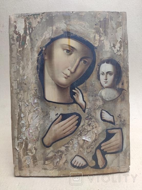 Пр.Богородица. Большая икона с очень красивым ликом . 36х26,5, фото №4
