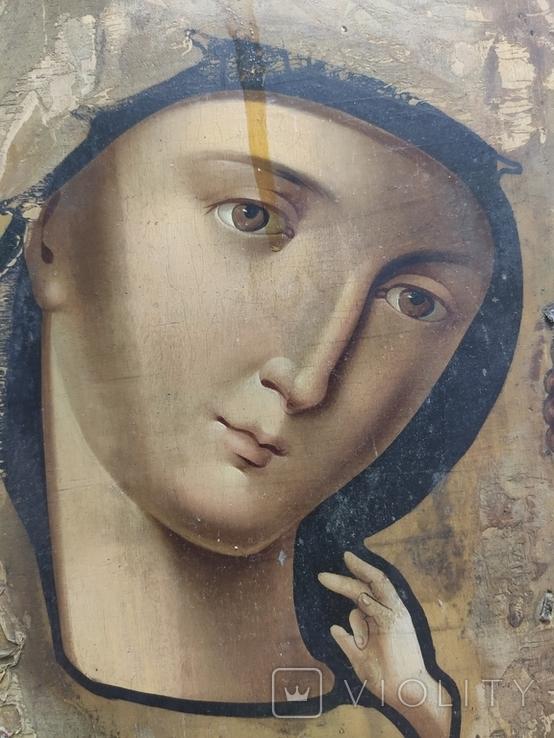 Пр.Богородица. Большая икона с очень красивым ликом . 36х26,5, фото №5