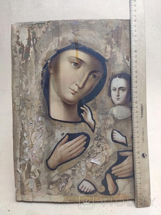 Пр.Богородица. Большая икона с очень красивым ликом . 36х26,5, фото №2