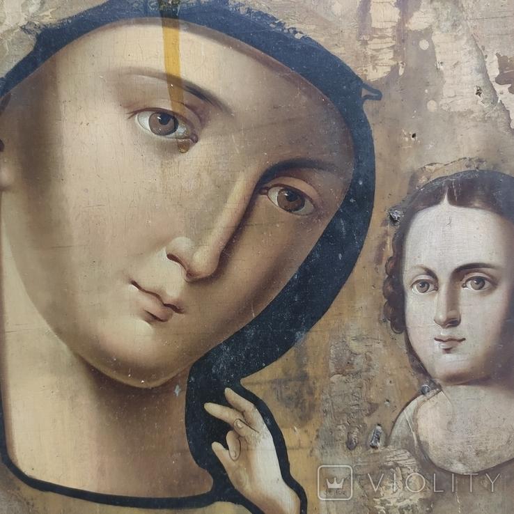 Пр.Богородица. Большая икона с очень красивым ликом . 36х26,5, фото №8