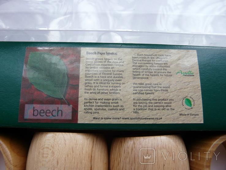 Набір кілець для серветок дерево Кольца для салфеток, фото №3