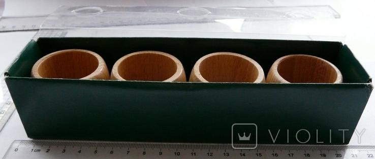 Набір кілець для серветок дерево Кольца для салфеток, фото №8