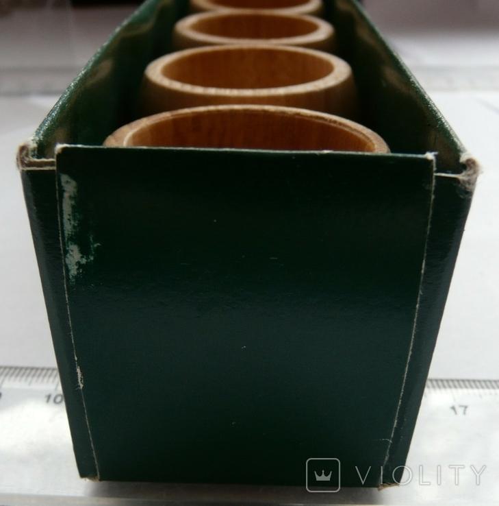 Набір кілець для серветок дерево Кольца для салфеток, фото №9