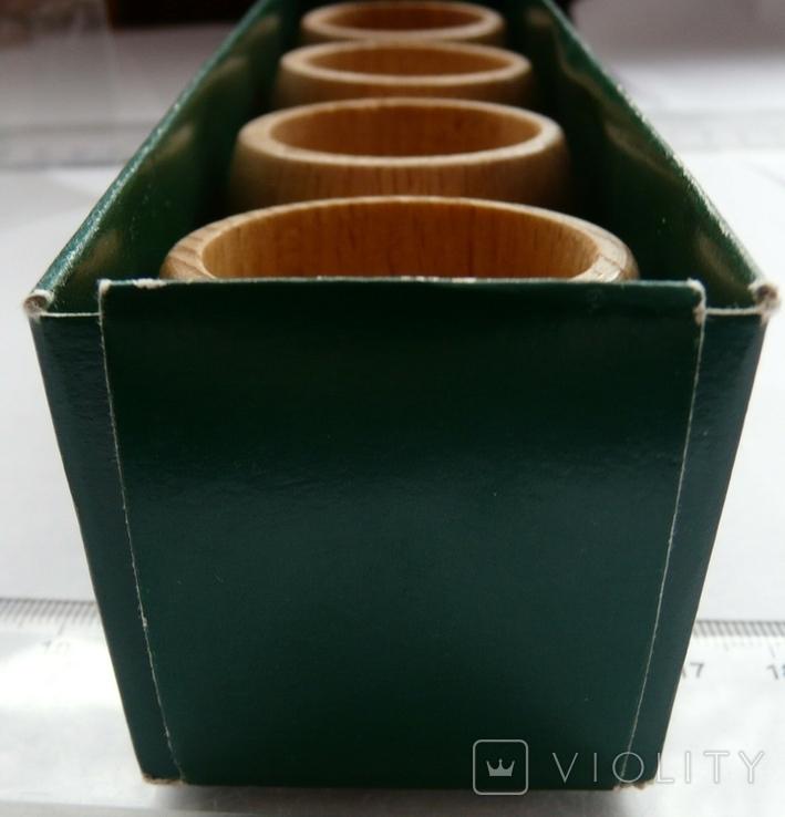 Набір кілець для серветок дерево Кольца для салфеток, фото №10