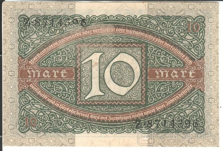 Германия 10 марок 1920, фото №3