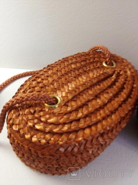 Плетёная сумка, фото №6