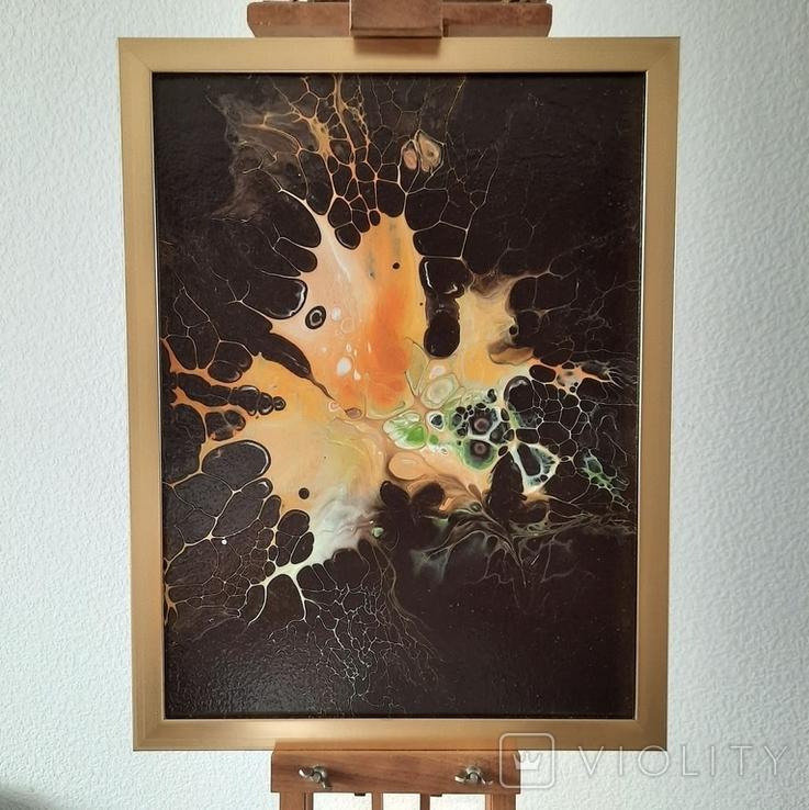 Картина/ живопис/ абстракція Fluid Art #1 acrylic, фото №2