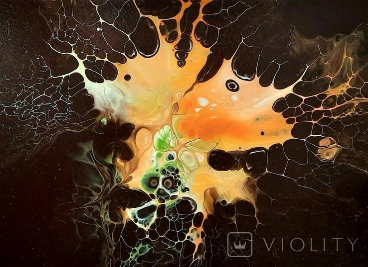 Картина/ живопис/ абстракція Fluid Art #1 acrylic, фото №4