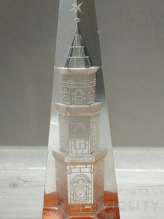 Сувенир оргстекло Москва Кремль Спасская башня, фото №9