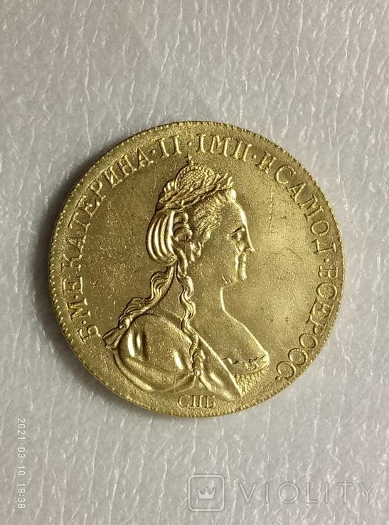 10 рублей 1782 год z233копия, фото №3