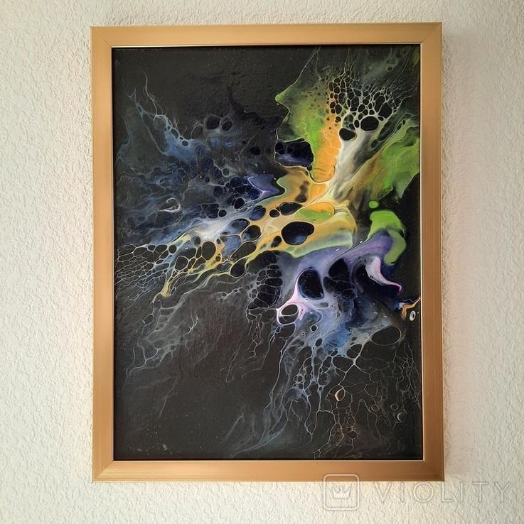 Картина/ живопис/ абстракція Fluid Art #3 acrylic, фото №7