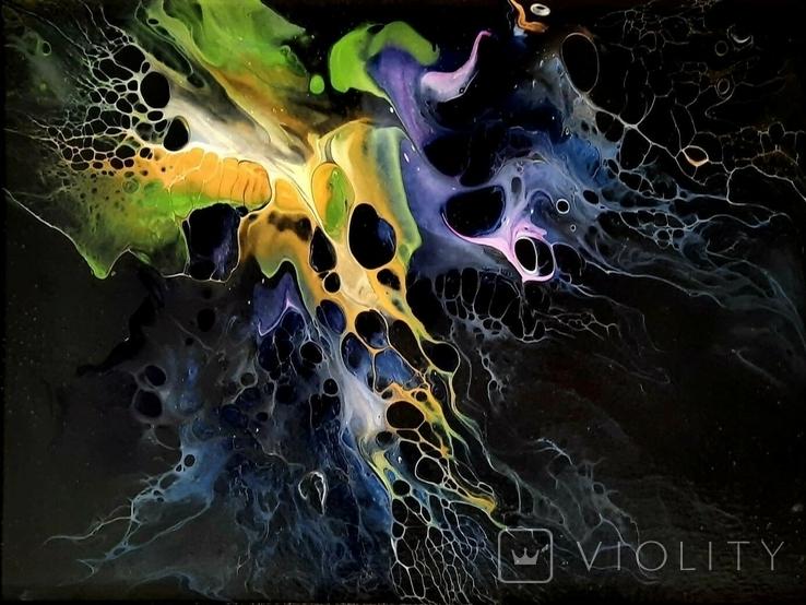 Картина/ живопис/ абстракція Fluid Art #3 acrylic, фото №11