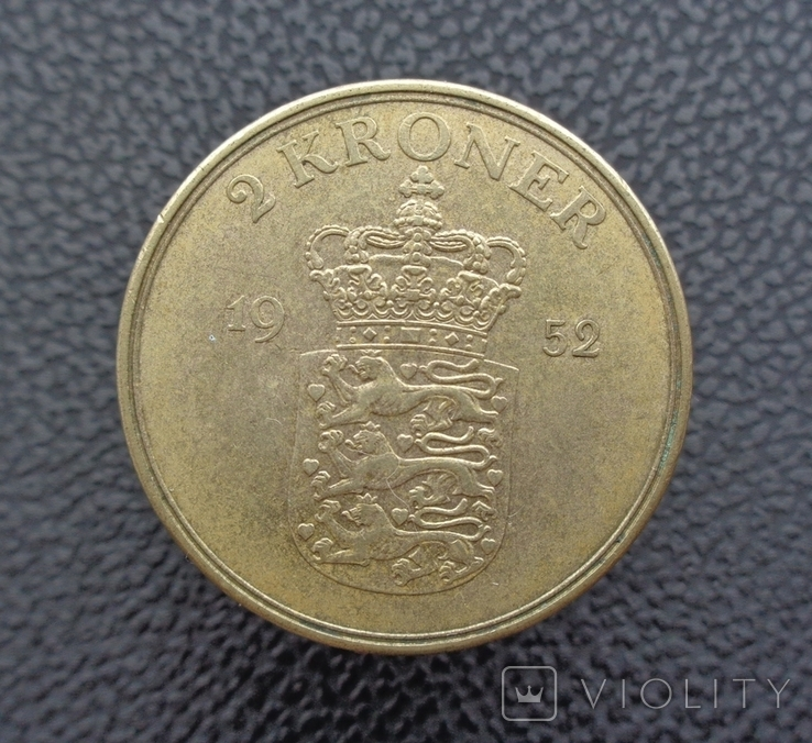 Дания 2 кроны 1952, фото №2