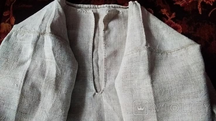Старинная полотняная сорочка, фото №3