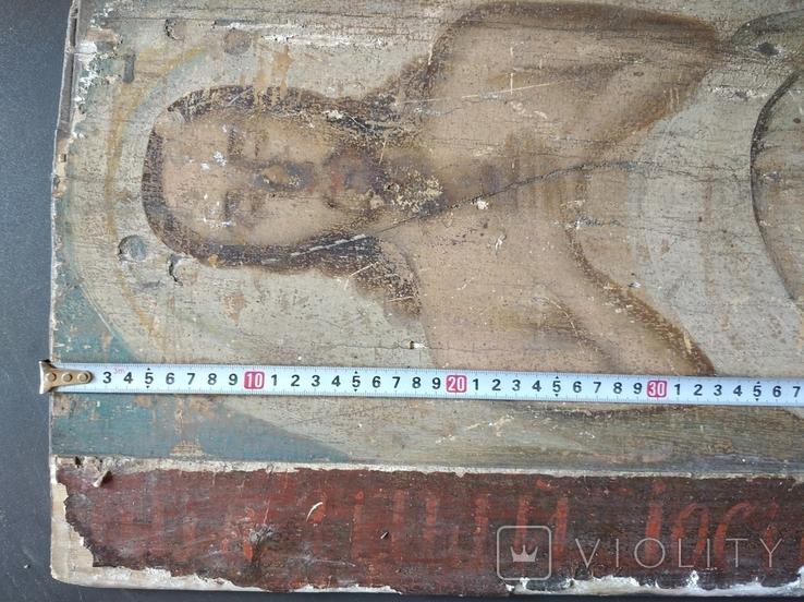 Полностью живописная плащаница. Икона. 40х100. 19 в., фото №4