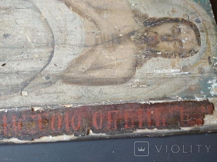 Полностью живописная плащаница. Икона. 40х100. 19 в., фото №8