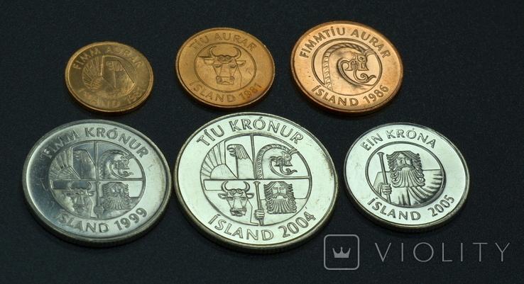 Исландия, набор монет, 6с, фото №5