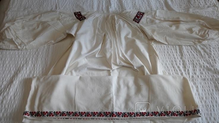Сорочка дівоча з Черкащини, на льоні, фото №4
