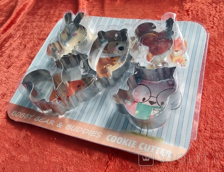 Кулинарные формы для детского печенья,пряников.Индия.Новые., фото №2