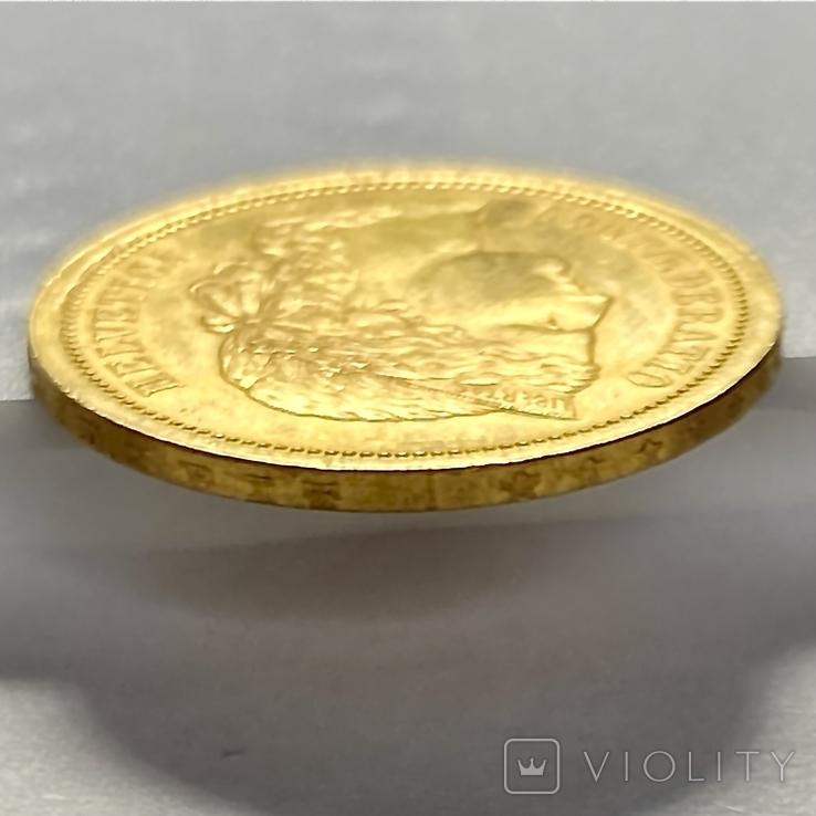 20 франков. 1886. Гельветика. Швейцария (золото 900, вес 6,47 г), фото №11