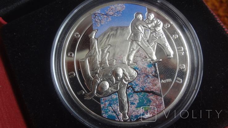 1000 драм 2011 Армения Дзюдо Сертификат тираж 5000 Цветная серебро, фото №2