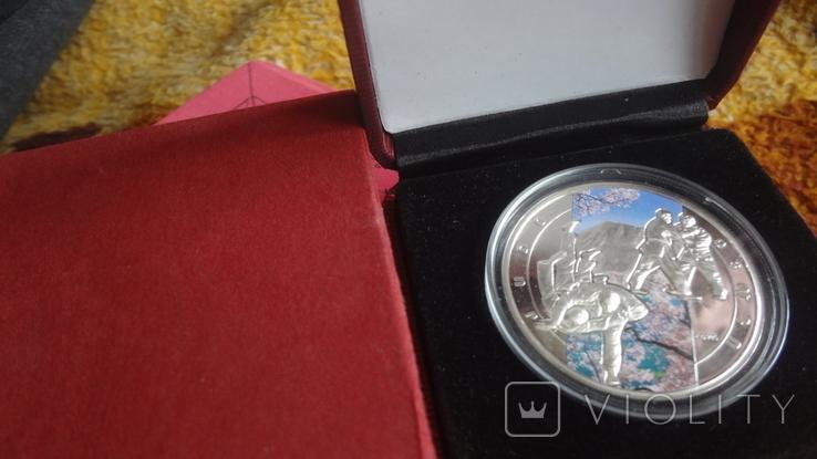1000 драм 2011 Армения Дзюдо Сертификат тираж 5000 Цветная серебро, фото №3