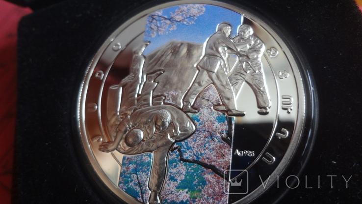 1000 драм 2011 Армения Дзюдо Сертификат тираж 5000 Цветная серебро, фото №5