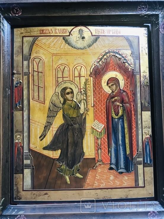 Икона Благовещение в киоте., фото №2