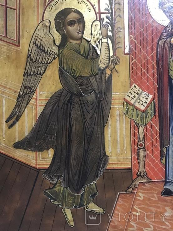 Икона Благовещение в киоте., фото №9