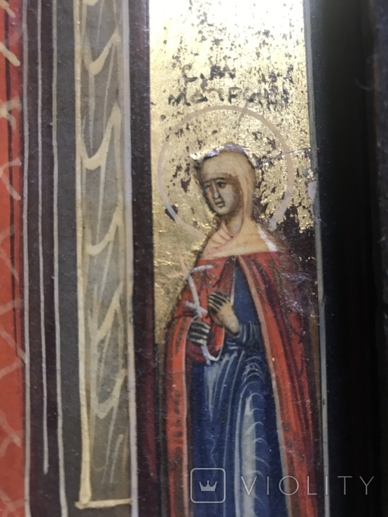 Икона Благовещение в киоте., фото №11