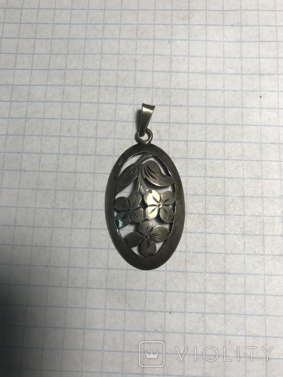 Кулон 835 пробы серебро, фото №2