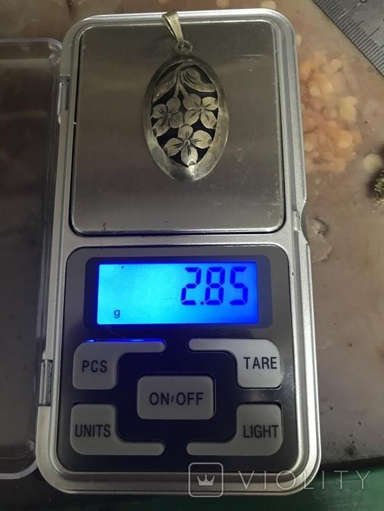 Кулон 835 пробы серебро, фото №6