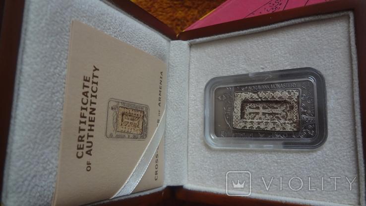 1000 драм 2011 Армения Хачкар Православная Армения тираж 2500 серебро, фото №2