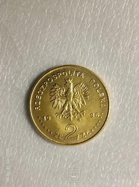 2 злотых, 1996 Сигизмунд II Август (15481572) z237копия, фото №3