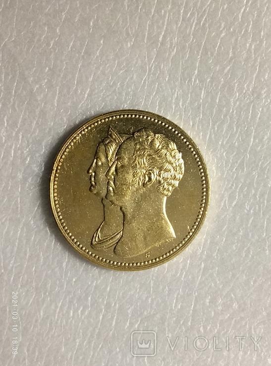 Медаль 1836 в память 10-летия коронации Николая I z238копия, фото №2