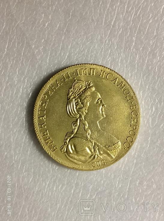 10 рублей 1786 год z242копия, фото №3