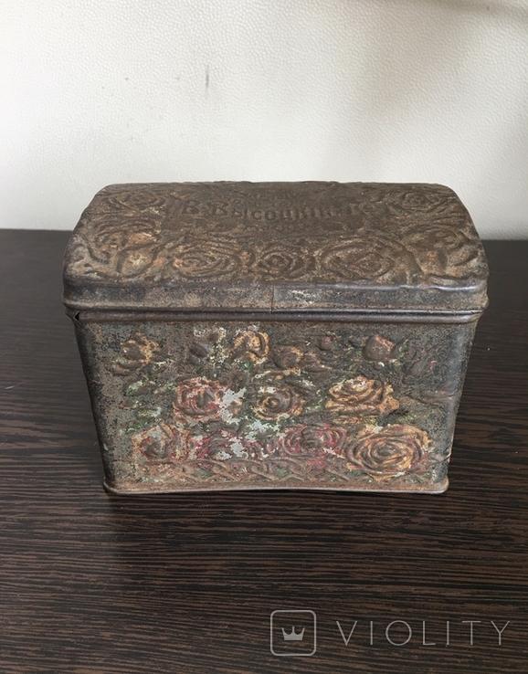 Коробка для чая. Товарищество чайной торговли В. Высоцкий и К Москва, фото №2